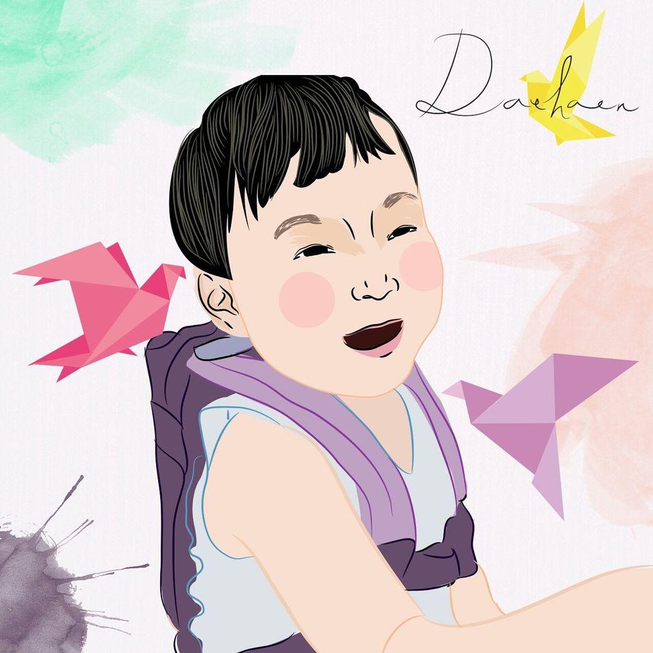 Happy is simple, make illustration baby Daehan make me feel better. Daehan Song Daehan Thetriplets Thesongtriplets ArtWork Art ArtPop Artphoto Hello World Illustration ??
