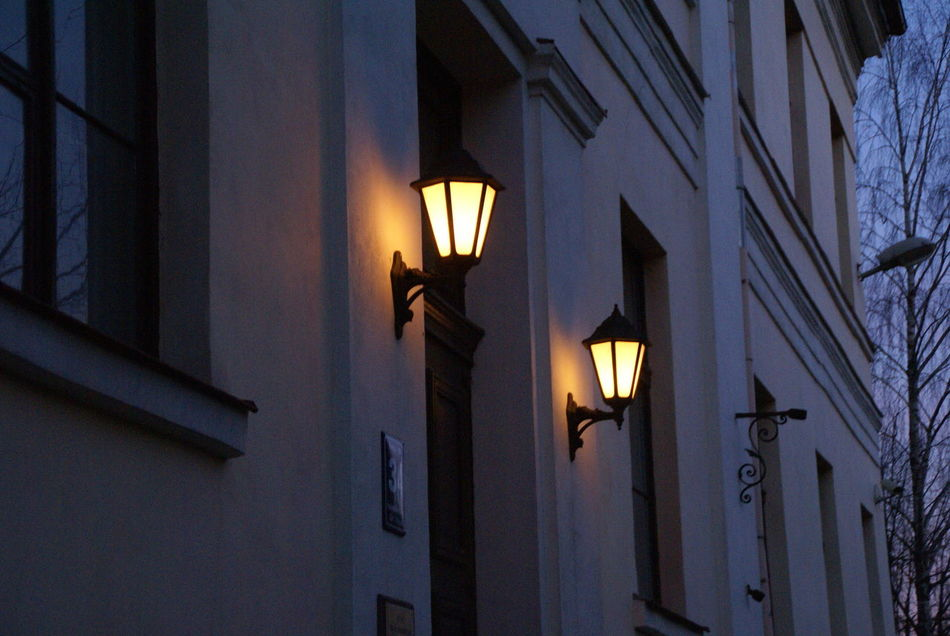 Architecture Building Exterior Built Structure City City Life Day Illuminated Lamp Lantern Light Light Source Lighting Equipment Low Angle View No People Outdoors Sky Sky And Clouds Street Sunset Wall Lamp Welcome To Black