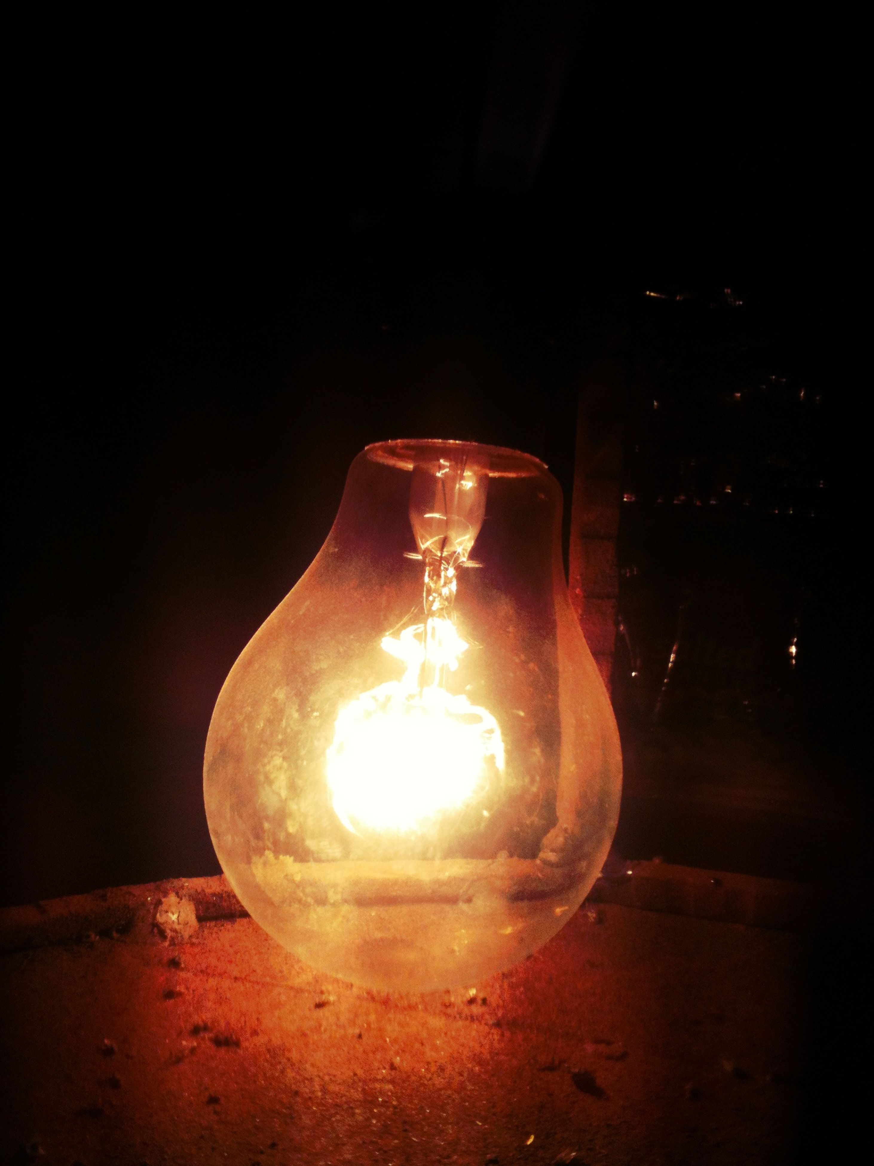 burning, flame, illuminated, fire - natural phenomenon, heat - temperature, glowing, indoors, night, lit, candle, dark, close-up, fire, copy space, lighting equipment, darkroom, candlelight, light - natural phenomenon, light bulb, glass - material