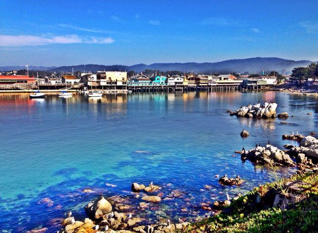 Monterey Wharf MontereyBay Montereybayfishermanswharf Ocean Shoreline Sea Summertime Californiacoast Clearsky Clearskies Water Water Reflections Colorful Adventure Explore Landscape Blue Bluewaters