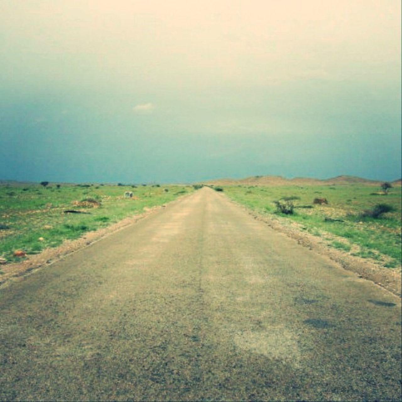 The road between Qardho and Bosaaso , Rainy Day Nature Puntland Somalia