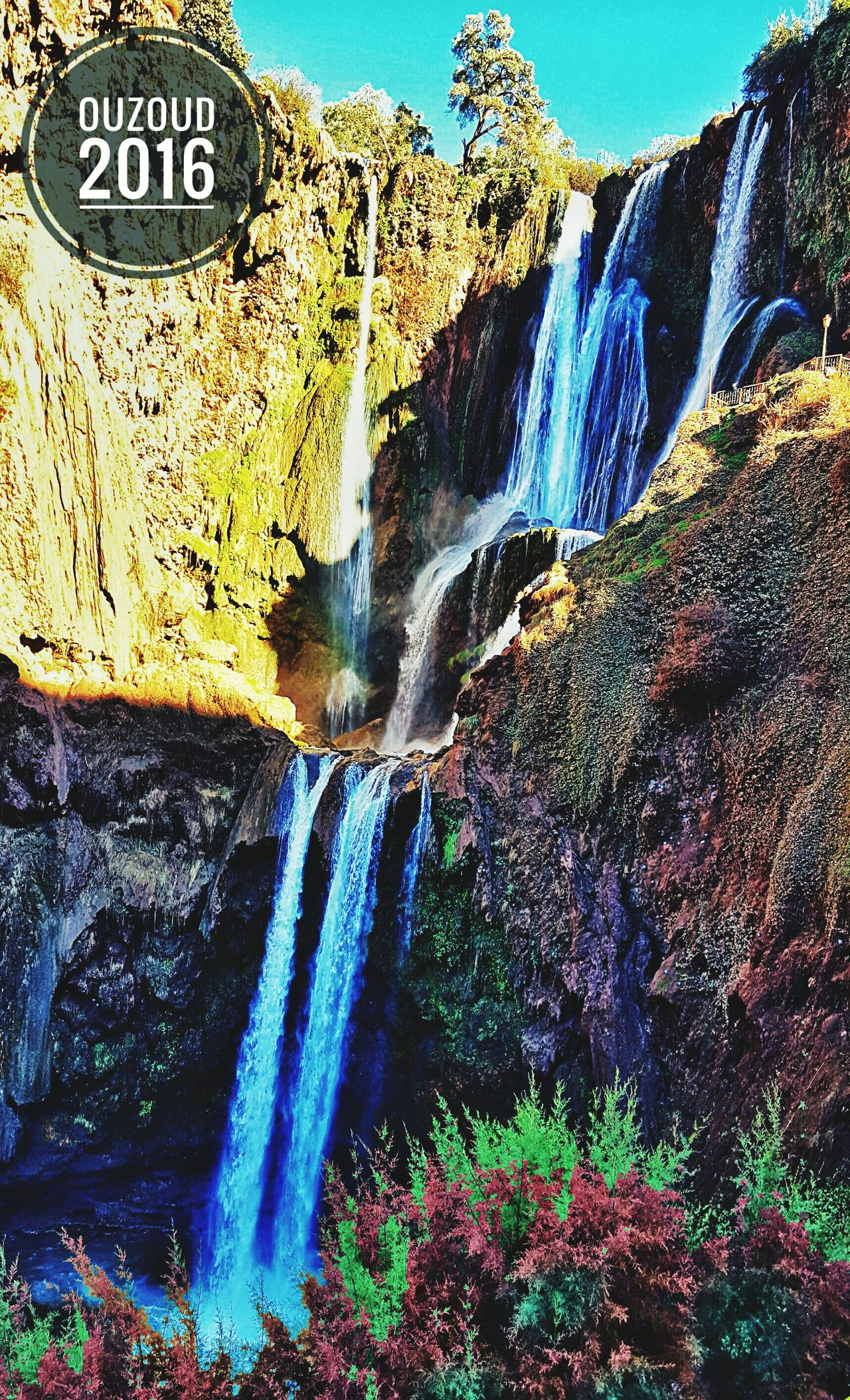 Multi Colored Outdoors Water Day Waterfalls Ouzoud Falls Nature Nature Photography Morocco Beautiful Day View From Below EyeEm Best Shots - Nature EyeEm Best Shots - Landscape Holidays Beautiful View