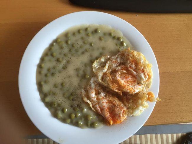 Borsod Eggs Food Green Peas Hungarian Házi ételek Tojás Zöldborsófőzelék Etel