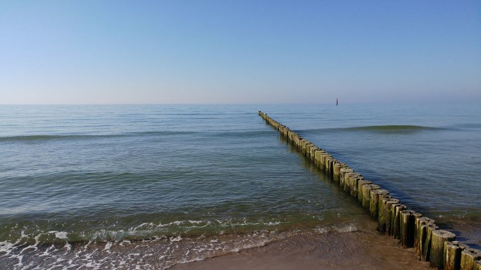 Ostsee Sea Beach Water Landscape Sand Sky Horizon Over Water Outdoors Nature Day Beauty In Nature No People Clear Sky Ostseestrand Ostseeküste Ostsee Graal-Müritz Germany Calm Sea