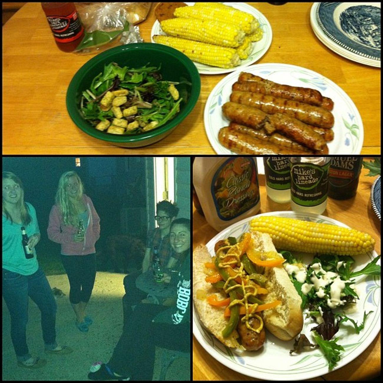 Family dinner ?? Sausage Corn Delsih Dranks @kayybayyyyy @brittanyxann @johnnyrigling