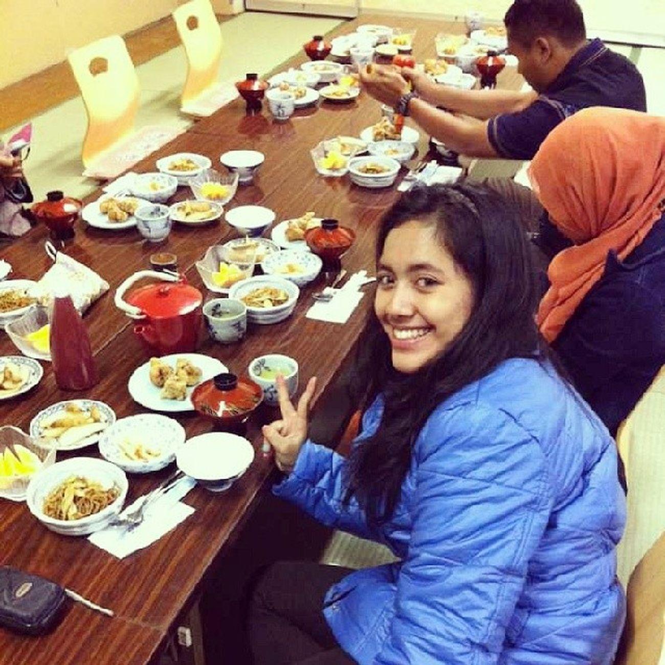 Dinner at ryokan. Routines Ceksuhudulu Throwback Japan chiba kamogawa itadakimasu teamA