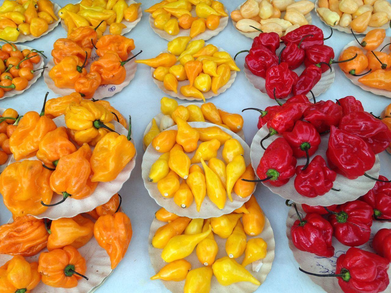 Pimenta Chili  Amarelo Yellow Red Feira Market