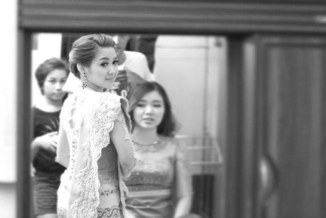 Blackandwhite Photography Myanmargirl Myanmarphotos Wedding Myanmardress