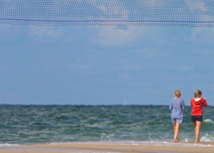 Abstract Beach Blue Casual Clothing Color Palette Eyeemphoto Full Length Horizon Over Water Kampen Leisure Activity Lifestyles Northsea On The Beach Scenics Sea Shore Simplicity Summer Sylt Taking Photos Two Is Better Than One Vacations Wineandmore