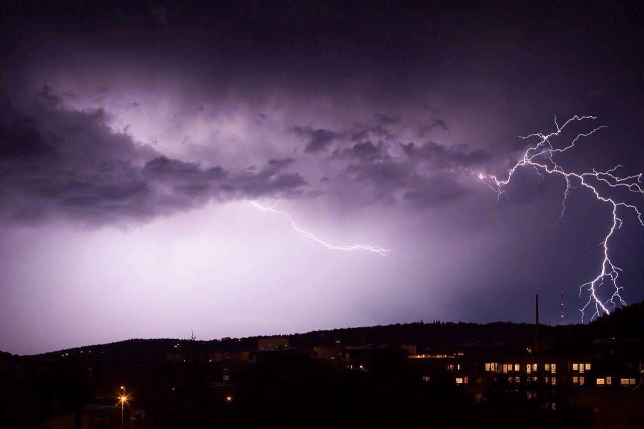 Lightning Thunderstorm Weather Landscape