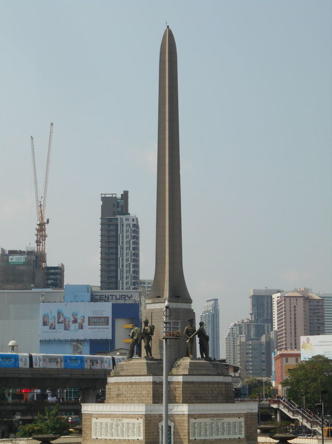 Architecture Bangkok Thailand. Cityscape Day Monument No People Outdoors Sculpture Sky Skyscraper Statue Urban Skyline Victory Monument