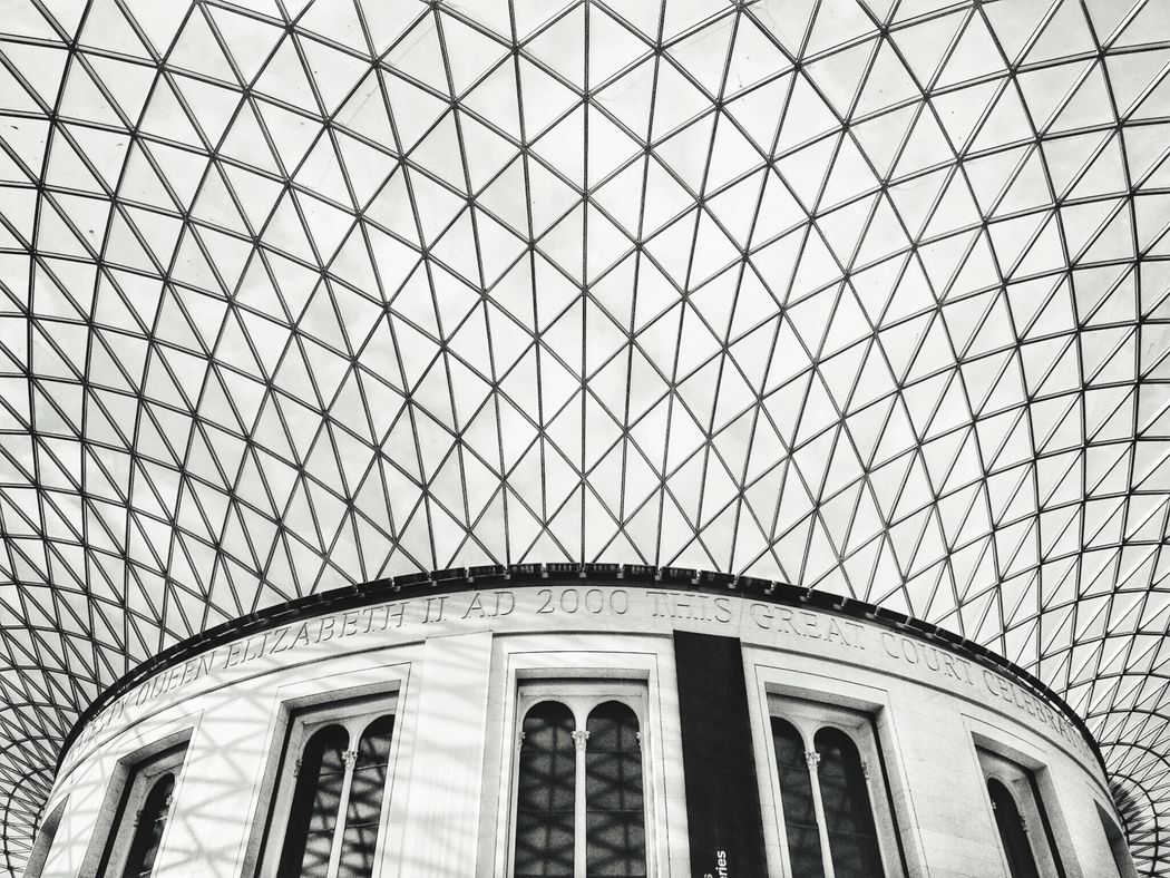 The web The Architect - 2016 EyeEm Awards London British Museum, England United Kingdom Web Main Hall Symmetry Architecture Travel Museum Ceiling Glass Monocrhome