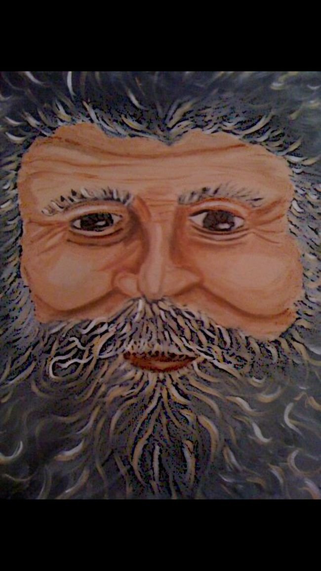 Father Time Father Time Photo Of Painting Painting Paintingphotography Old Man Winter Acrylic Acrylic Painting Original Art Original Art Michelle Libran Bell Elder EyeEm Best Shots EyeEm Gallery Wisdom