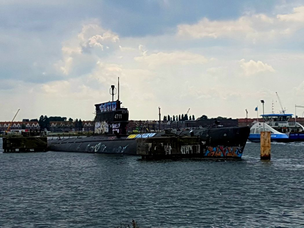 Submarine World Submarine Nautical Vessel Sea Ship Cityscape Day Water NDSM Werf Amsterdam Amsterdam Transportation History Lover Naval History