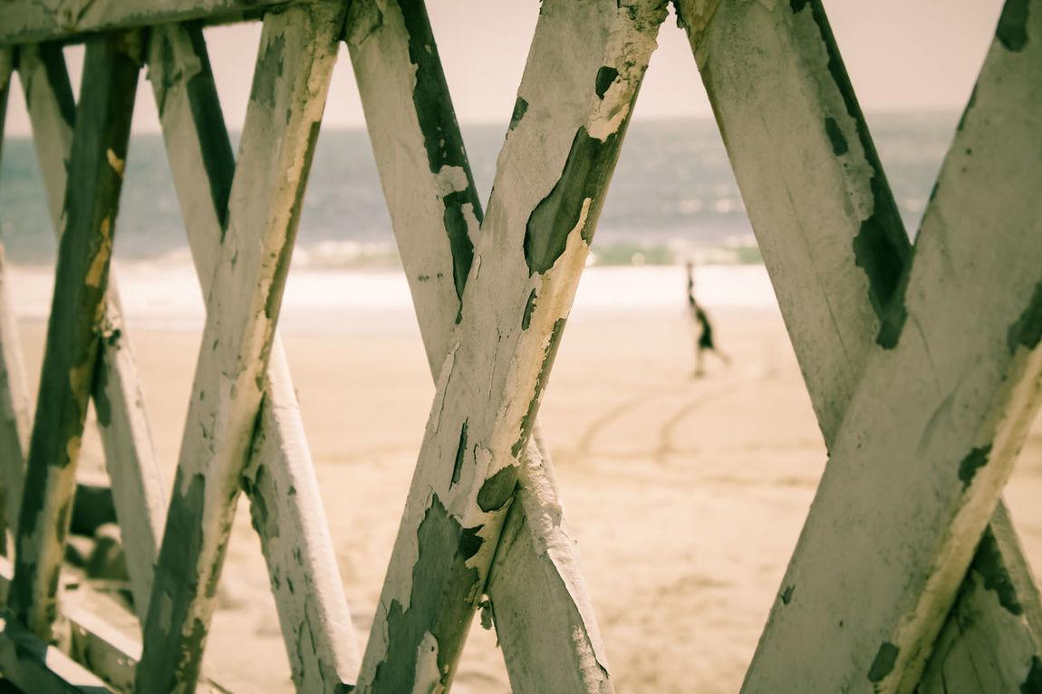 Aterro Da Beira Mar Beach Beira Mar Close-up Day Fence Fortaleza Fortaleza - Ce Iracema Nature No People Outdoors Praia De Iracema Sand Sea Sepia Sky Water