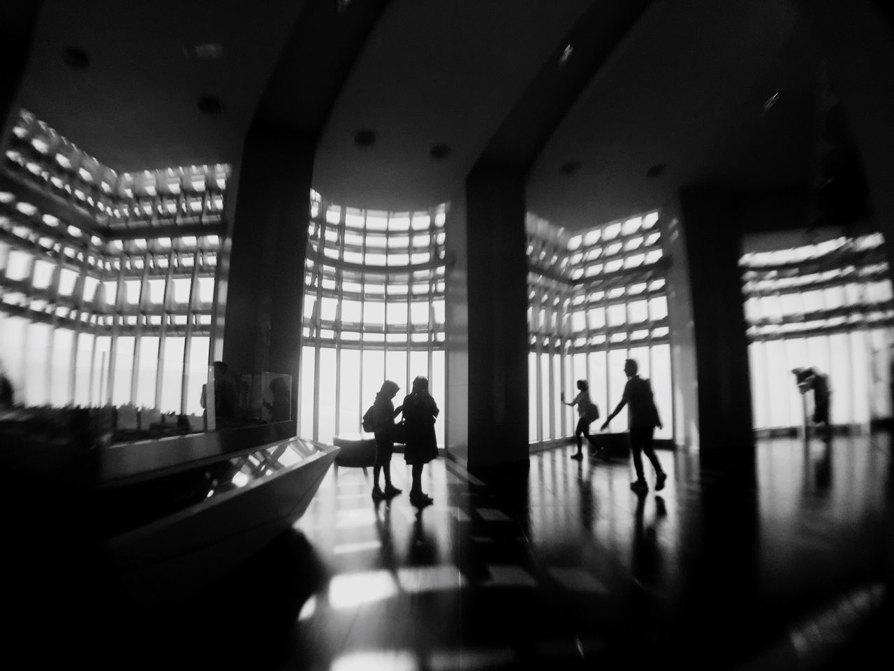 People inside a modern building Indoors  Real People Walking Architecture Museum Built Structure Lifestyles Men Women Day Full Length People Blackandwhite Busy People Working The Street Photographer - 2017 EyeEm Awards The Photojournalist - 2017 EyeEm Awards EyeEmNewHere
