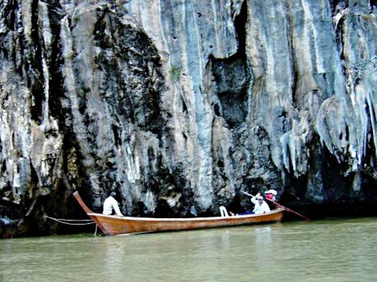 Thai fisherman off of a limestone island. Thai Fish Boat Limestonephotos Travel Photography Wood Boat Taking Photos Thailand