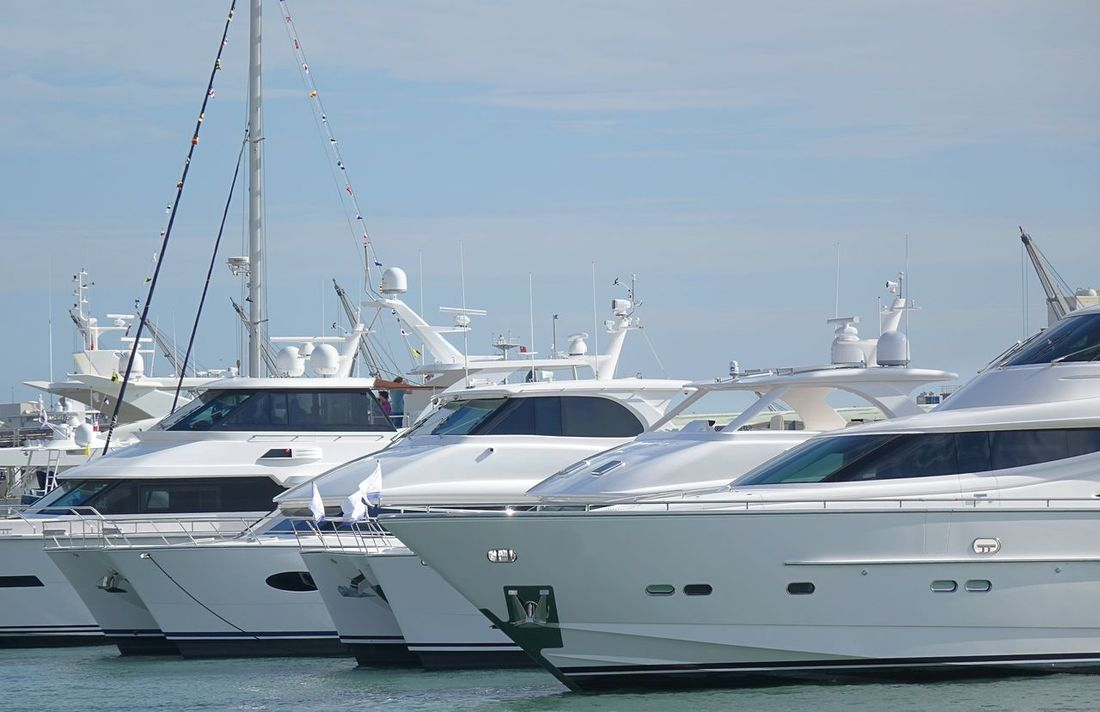 Expensive yachts are docked for sale at the harbor Docked Boats Expensive Harbor Luxury Luxurylifestyle  Nautical Vessel No Logos Pleasure Boat Rich Life Sailboat Upper Class Yacht
