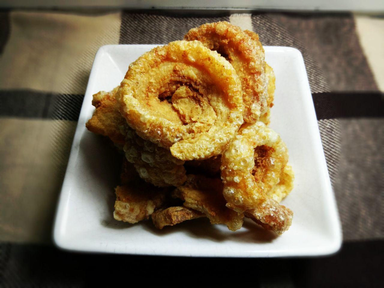 Pork Rind, popular local snack in Northern Thai Food I Like Thai Food