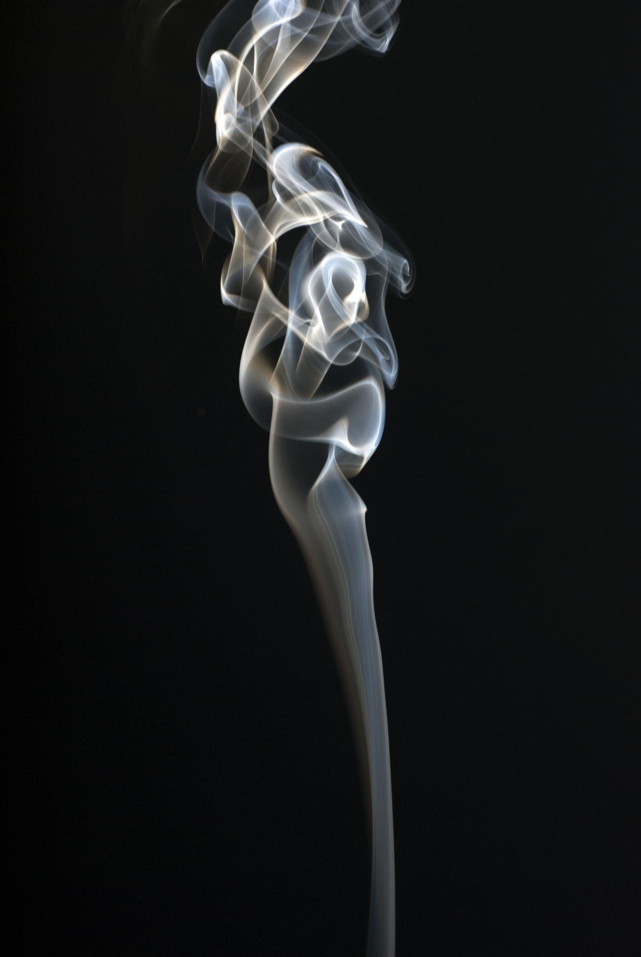 smoke on black Black Black Background Cigarette  Cigarette Time Fragility Incense No People Shape Smoke Smoke - Physical Structure Swirl