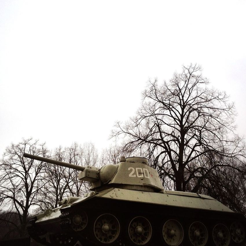 Tired of Easter bunnies and eggs and spring flowers and sunshine? Here's a Soviet tank with a vaguely ominous background for your Easter morning enjoyment. Happy Easter! Berlin Exploring Taking Photos