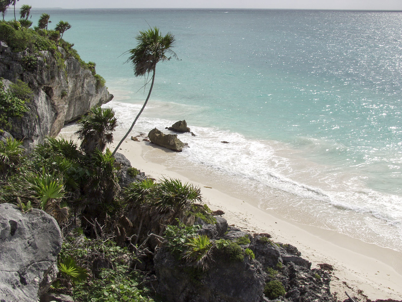 Beach Beauty In Nature Cliff Coastline Horizon Over Water Nature No People Outdoors Plant Remote Scenics Sea Shore Sky Tranquil Scene Tranquility Tulum Tulum , Rivera Maya. Tulum Beach Water
