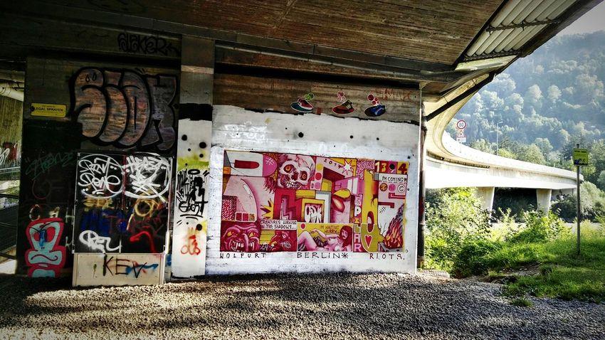New Art Legal Sprayen on the Legal Spraying Wall Freewall in Bregenz Austria