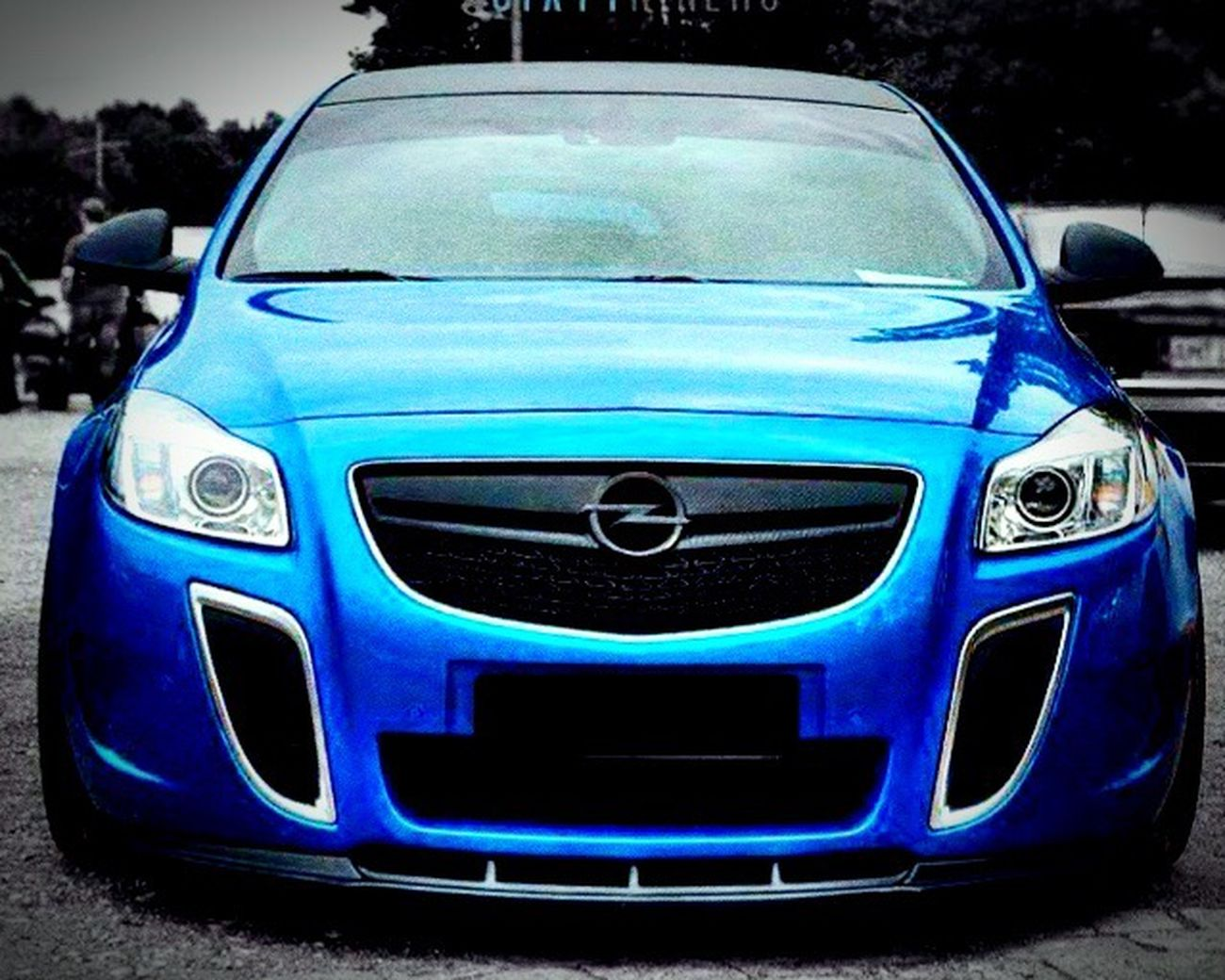 Beautiful blue Opel Insignia OPC