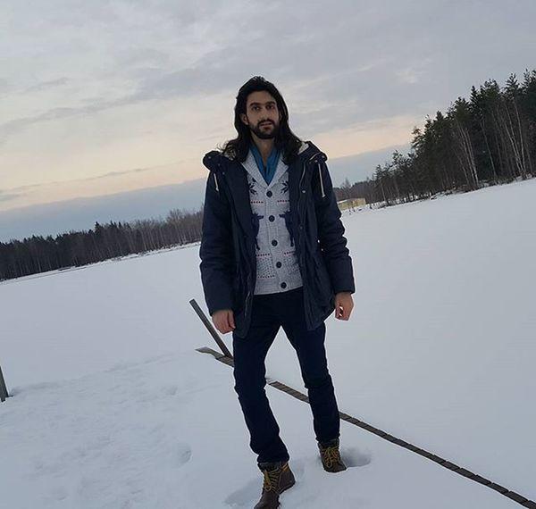 😨😨 Winter days 😁😁 Lasts winter days actually 👌✌👍 Finland Mänttä Lake Frozen 🗻