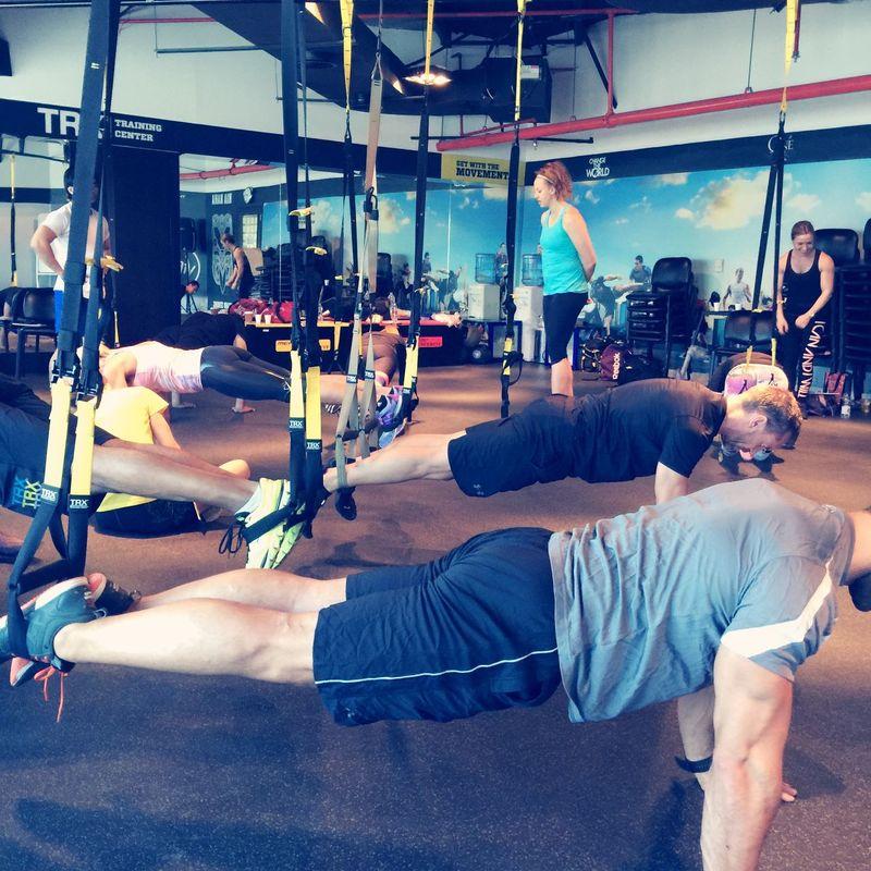 Let's plank it out TRX Fitbody Trxparveez Parveez Mens Fitness Fitnessmodel Dubaimarina