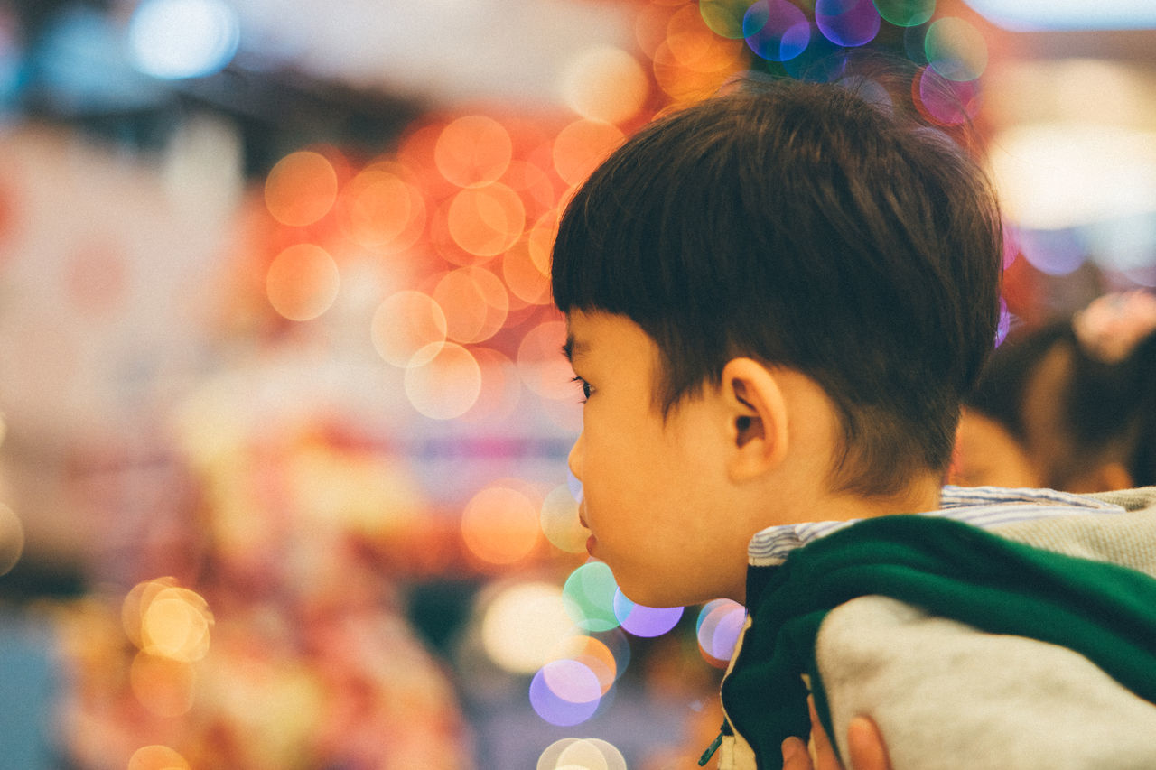 Beauty Bokeh Bokeh Lights Bokeh Photography Cheerful Child Childhood Children Only Close-up Day Day Dreaming Headshot Illuminated Indoors  Kidsphotography One Person People Portrait