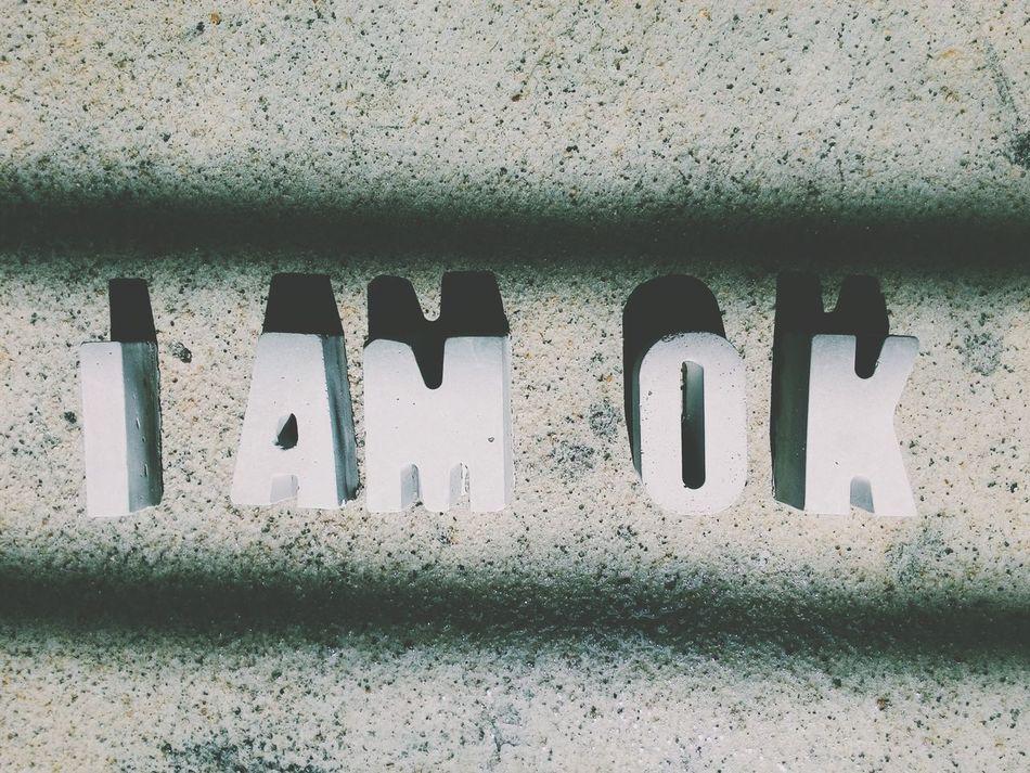 Beautiful stock photos of word,  Alphabet,  Close-Up,  I Am OK,  No People