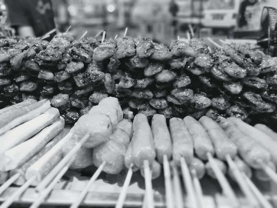 "Malaysia food ~ Buntut ayam (BBQ ""chicken butt"") Close-up Food And Drink Malaysian Food Malaysianphotographer Malaysianstreet Malaysianfood Malaysian Borneo Malaysia Truly Asia Streetfood Streetfood Worldwide Malaysia Food Sarawakmalaysia Sarawakfood Sarawakhawkercuisine Hawker Centre Miri, Malaysia Black And White Photography"