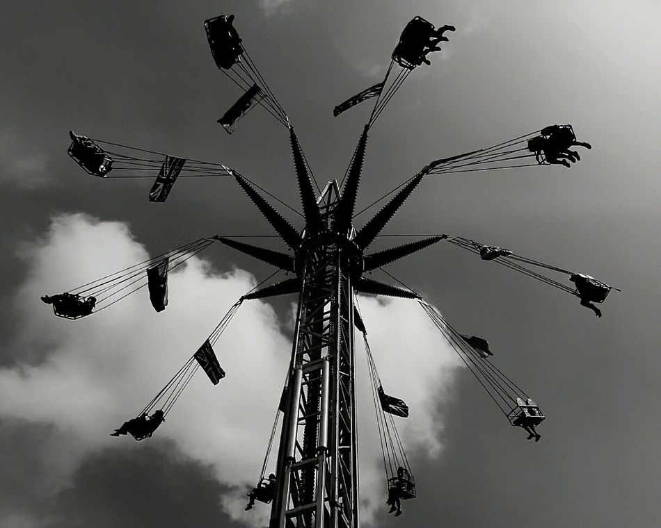 Amusement Park Silhouette Fairground Fairground Attraction Fairground Ride Amusement Park Ride Thrill Rides Thrill Seeker Bkack And White Black And White Photography Diferent Perspective Diferent View Exciting Times Rides At Fair EyeEm Best Shots - Black + White Looking Up Monochrome Monochrome Photgraphy Monochrome Collection Thrill Seeking Thrill Fun Fun Fair Fairground Attractions EyeEmNewHere