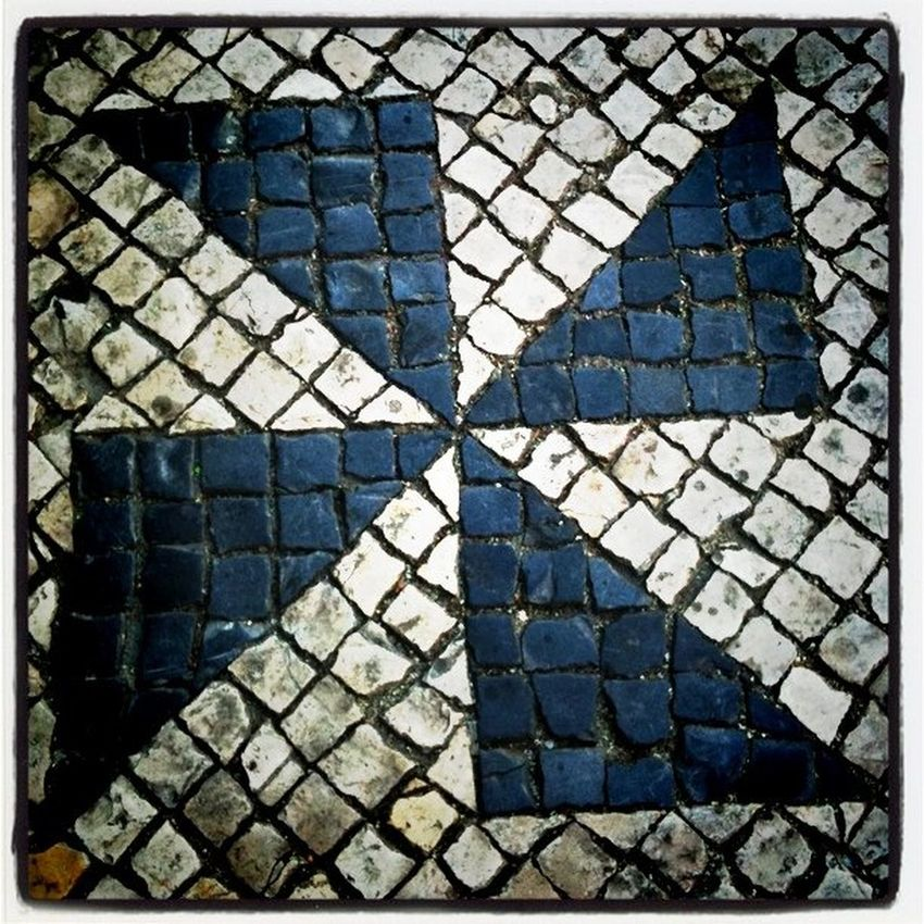 Mosaic art in the streets of Lisbon Pattern Pieces