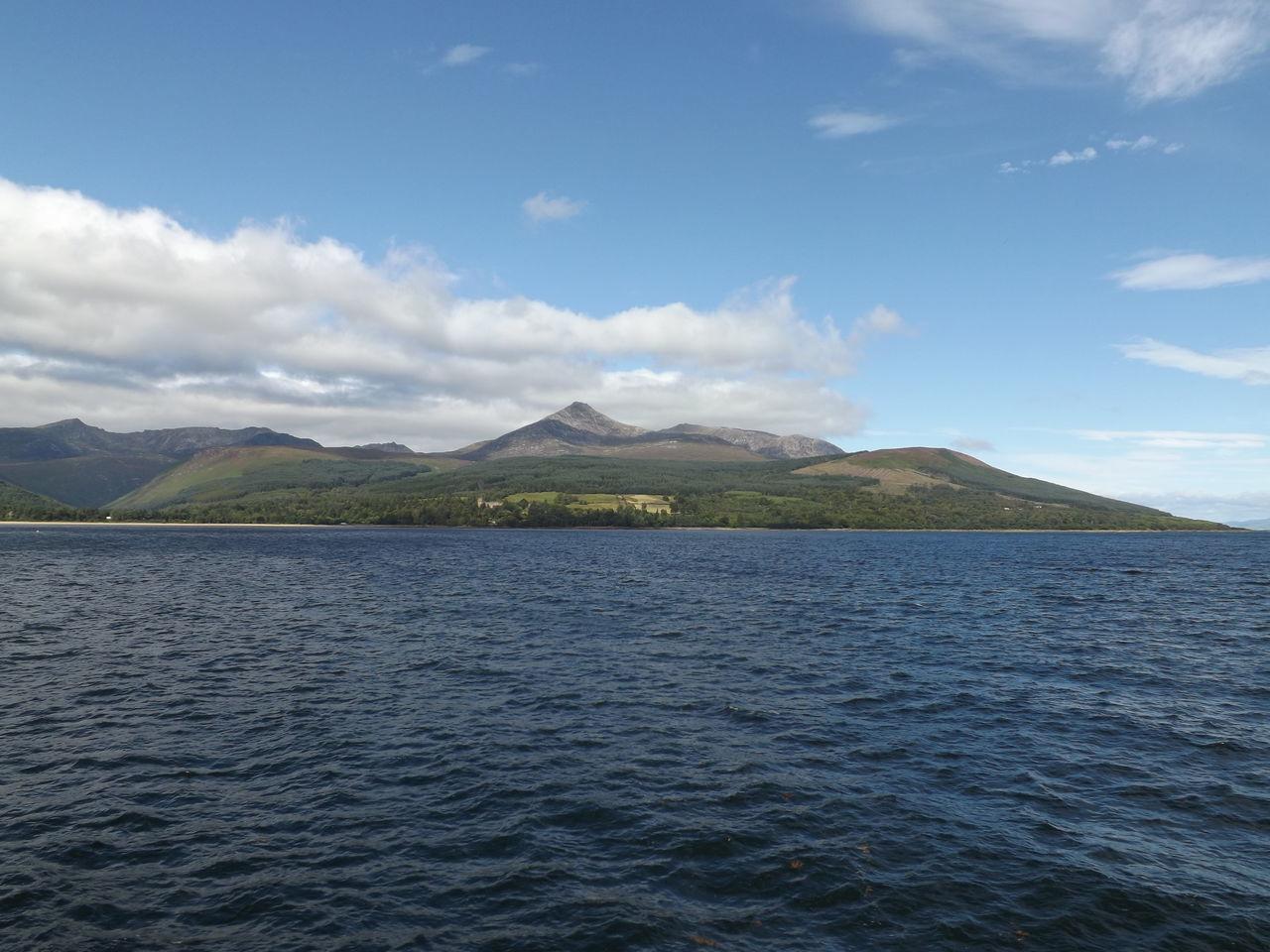 Beauty In Nature Blue Sea Blue Sky Cloud - Sky Day Isle Isle Of Arran  Landscape Mountain Mountain Range No People Outdoors Scenics Scotland Sky Trip Trippy Water