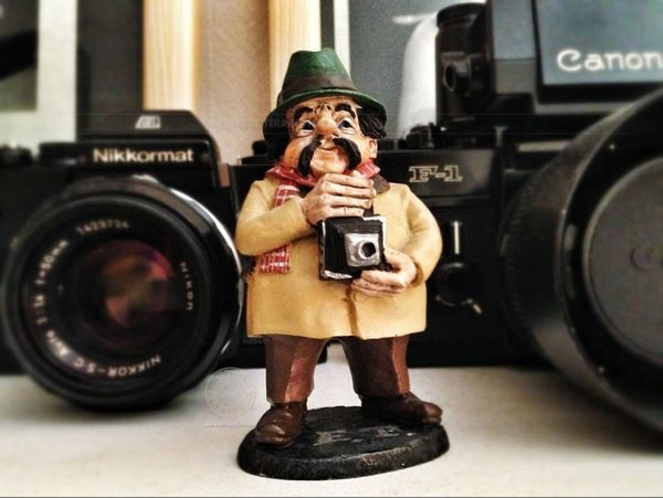 Little Photo Dude! Canon Figure Photographer Nikkormat