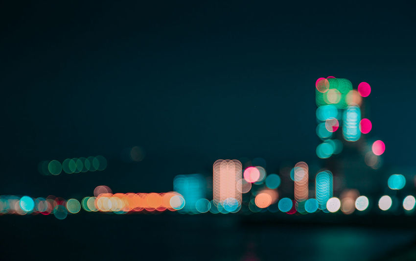 AMPt_community City Colors Night Lights Nightphotography Ultimate Japan Architecture Blur Bokeh Bokeh Photography Building Building Exterior City Close-up Defocused Illuminated Multi Colored Night No People Outdoors Shootermag Shootermagazine Urban Urban Skyline Water
