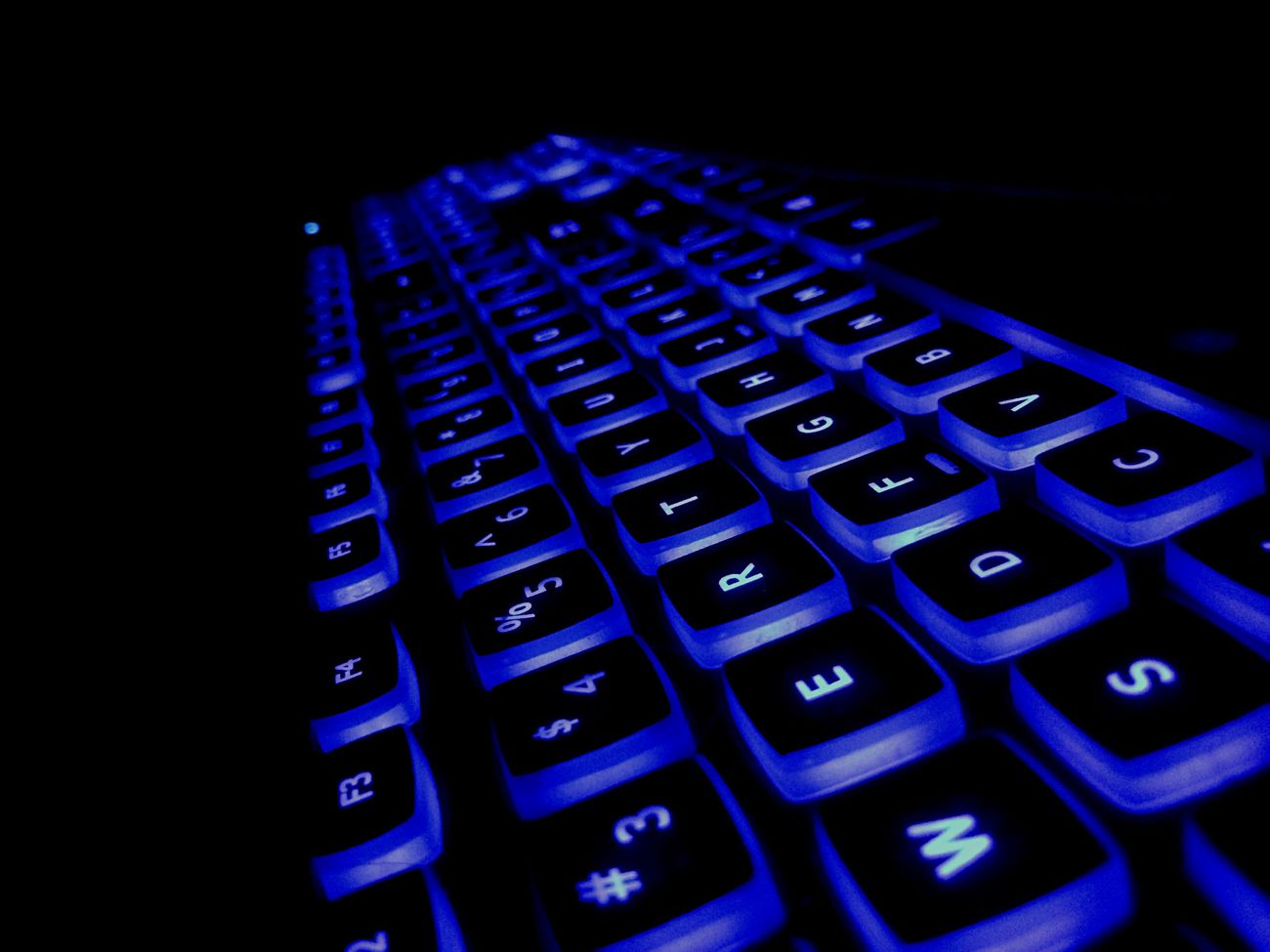 Computer Keyboard Blue Technology Close-up Computer Key Night No People First Eyem Photo FirstEyeEmPic Comments Are Welcome Testing Tesing, 1 2 3 Test EyeEm Testing EyeEm Test Shot