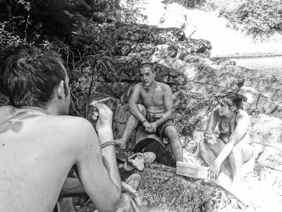 Breggia Casual Clothing Day Growth Leisure Activity Lifestyles Nature Outdoors Relaxation Relaxing River Sitting Swiss Tree Vacations EyeEm First Photo EyeEm Gallery Majestic Monochrome Photography
