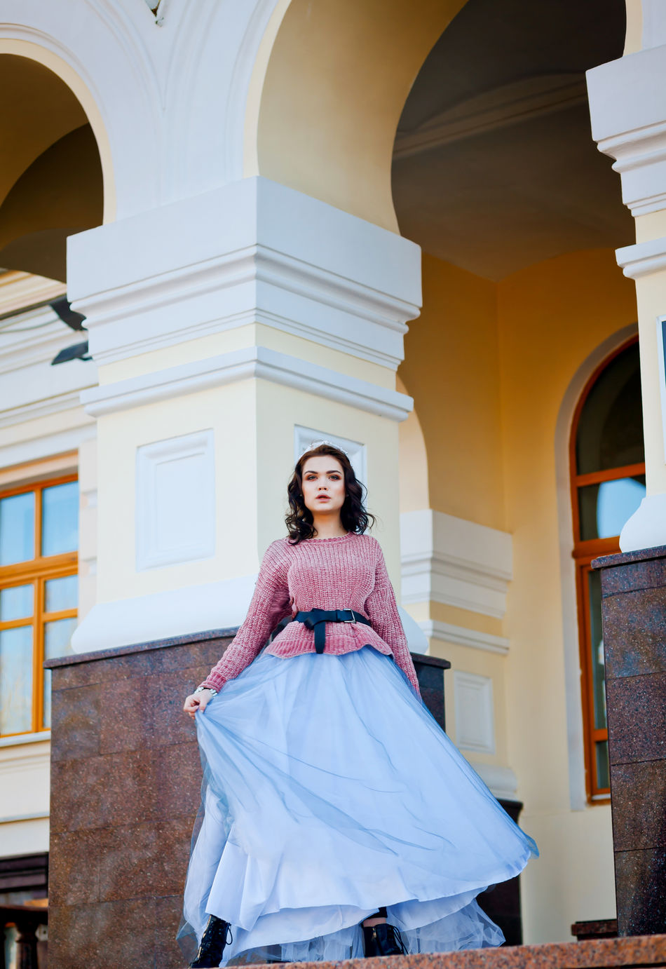 Architecture Beauty Editorial  Editorial Photography Fashion Fashion Glamour Lifestyles Millennial Pink One Young Woman Only Outdoor Photography Smiling Standing