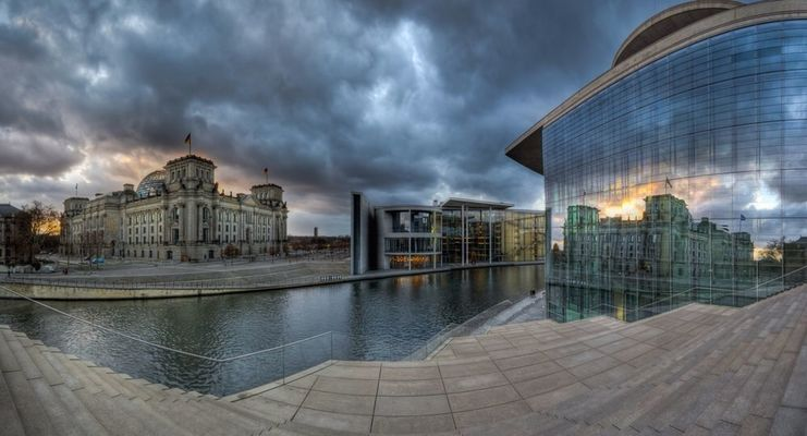 Panorama in Berlin by Peter Bartos