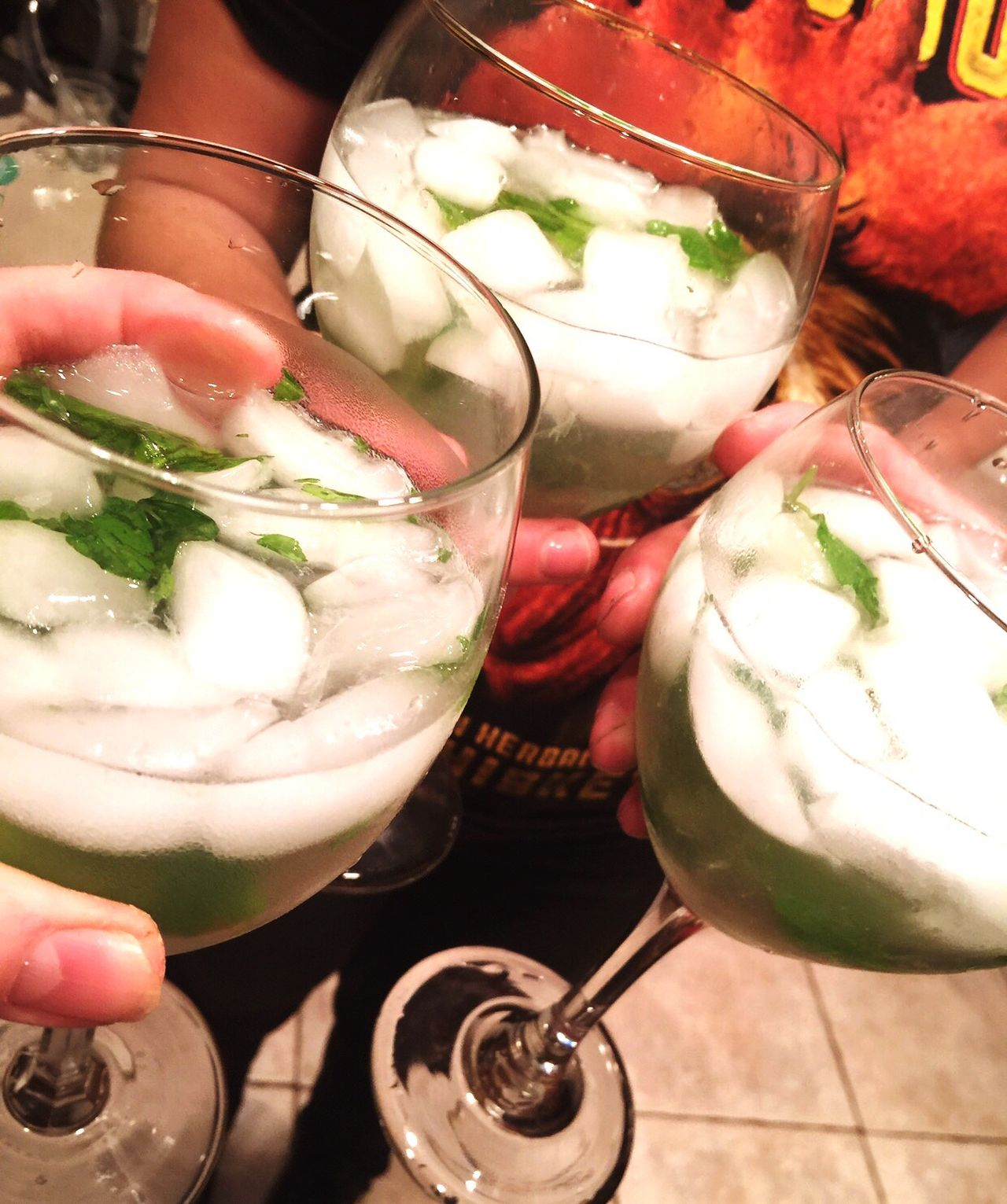 Liquid Lunch Mojitos Cheers Homemade Mojitos Celebration Sothern California Drinking Drinks Green Fresh Mint Lime Mixed Drinks Alcohol Goblet Having Fun Yummy IPhoneography Yum Share EyeEm Cheers Family Time Friends Friendship Show Us Your Takeaway!