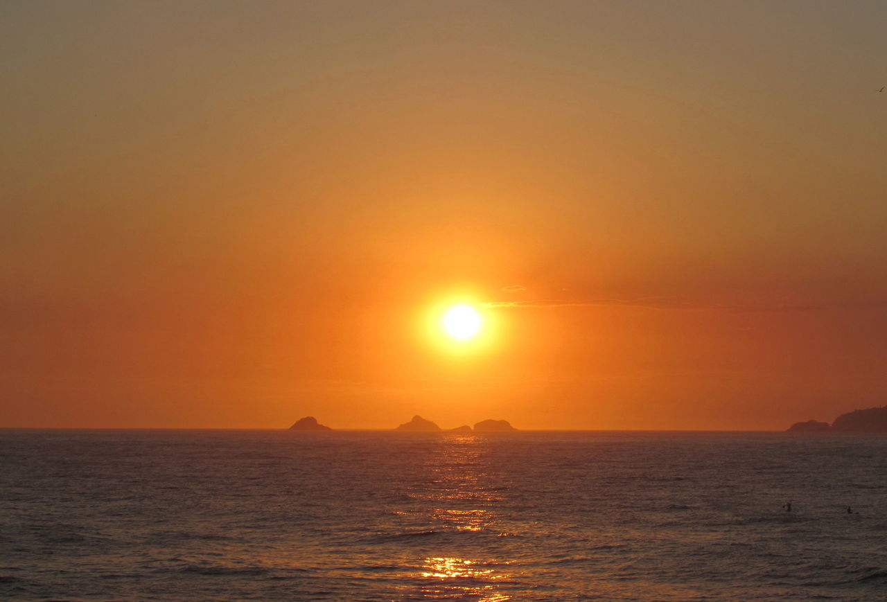 Beautiful Sunset in Rio de Janeiro Beauty In Nature Brazil Ipanema Ipanema Beach Landscape Nature Nature Ocean Orange Color Rio Rio De Janeiro Scenics Sea Sky Summer Summer Views Sunset Tranquil Scene Tranquility Water