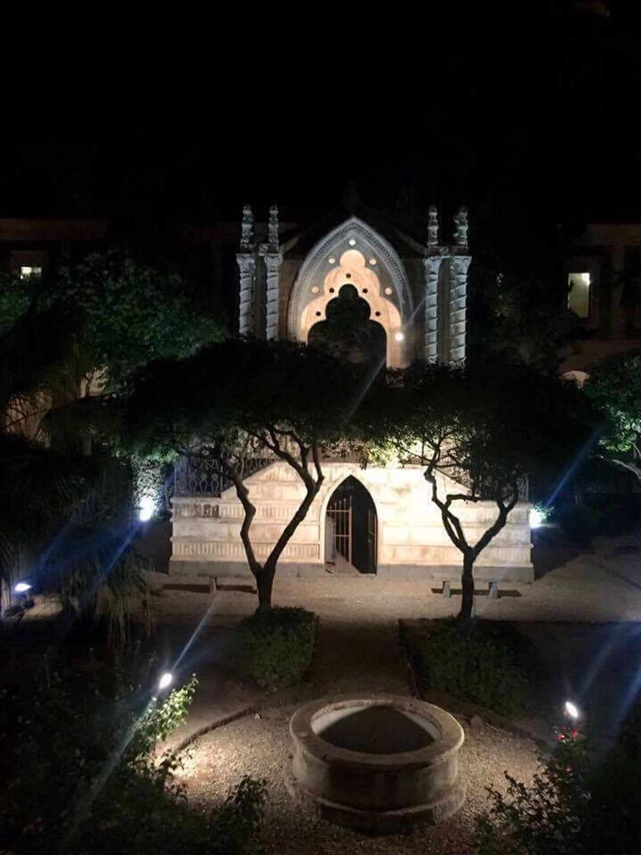 Night Architecture Tree Building Exterior No People Outdoors Ancient Monastery Cloister Nightphotography Night Lights Nightshot Garden Architecture Tranquility Eyeem Photography The Great Outdoors - 2017 EyeEm Awards The Architect - 2017 EyeEm Awards Mycity Catania, Sicily