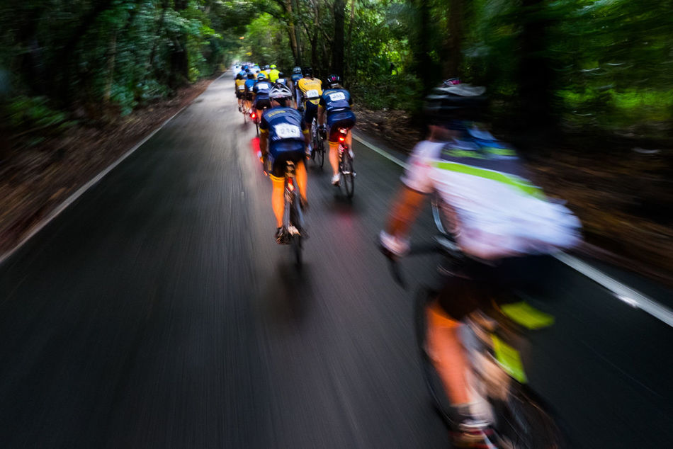 Beautiful stock photos of action, Blurred Motion, Competition, Cycling, Day