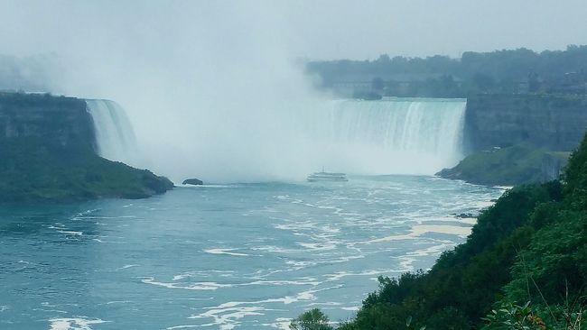 Niagara falls Water waterfall ship Nature Landscape
