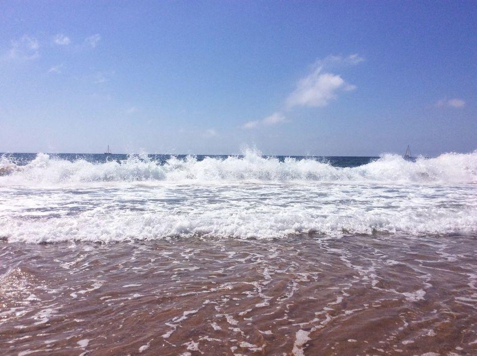 Lamangadelmarmenor Sea Beach Sea View Bluesea Blue Wave Waves Crashing Boats And Water Mediterranean  Mediterranean Sea Laguna Laguna Beach Lightblue Marmenor Sand & Sea Sandy Beach SPAIN Hello World