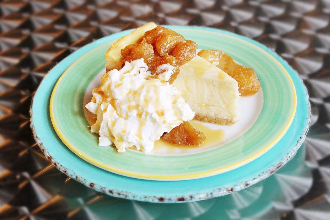 apple cheesecake Apple Cake Food Food And Drink Plate Table Temptation Whippedcream Dessert Sweet