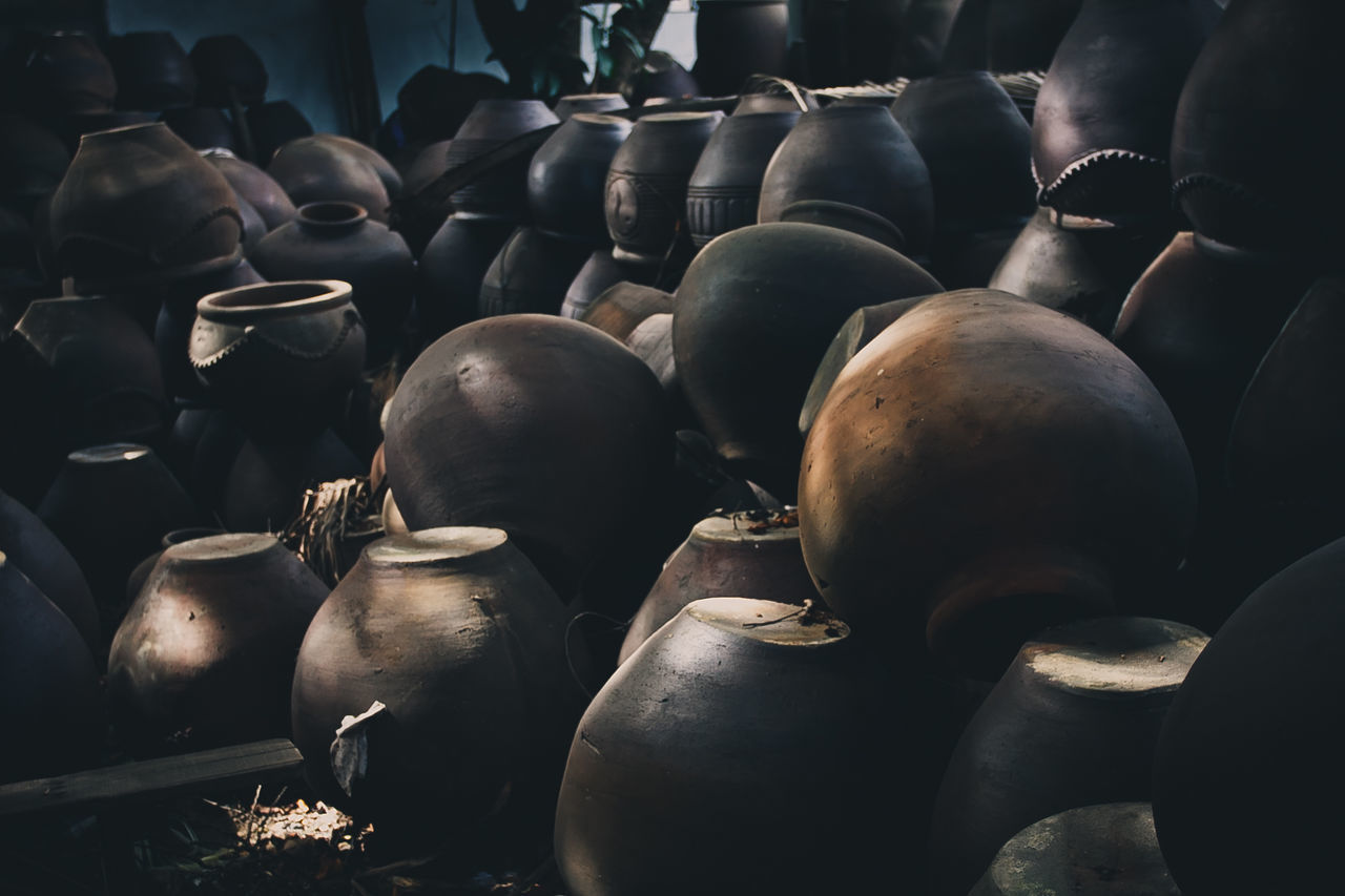 Abundance Agriculture Clay Jar Day In A Row Jars  Large Group Of Objects No People Outdoors Philippines